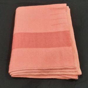 Pink vintage wool point blanket 72 by 84 inches